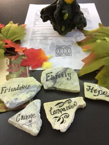 messages on stones